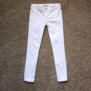 White Abercrombie & Fitch Low Rise Skinny Jeans